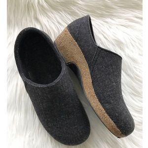 Haflinger Charcoal Gray Wool Clogs for sale